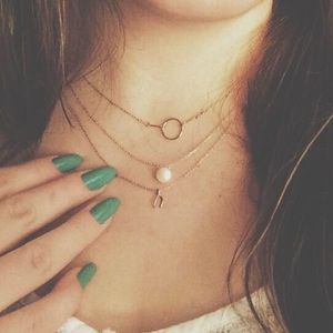 Dogeared pearl dainty necklace
